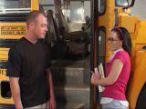 Spotkanie przy autobusie